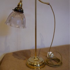Adjustable office / desk lamp in brass