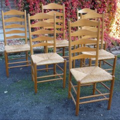 Set of 6 Reynolds of ludlow cotswold chairs in oak