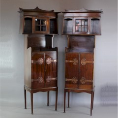 Pair of Art Nouveau cabinets attributed to JS Henry