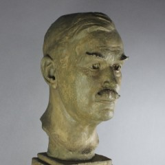 Frederick .W. George 1889-1971 plaster bust