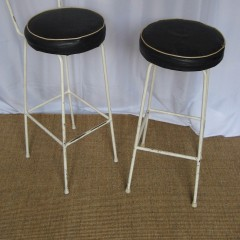 Pair of vintage 1950's kitchen stools 1950's