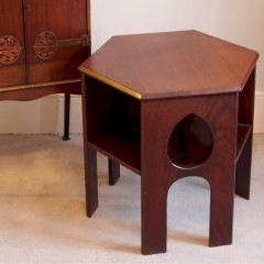 arts and crafts mahogany teardrop table