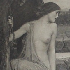 Pre Raphaelite print Echo and Narcisuss by J W Waterhouse 1903