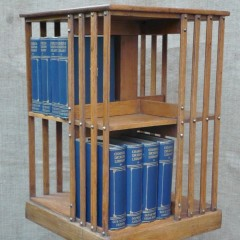 Small oak revolving bookcase