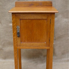 Simple arts and crafts bedside cabinet in golden oak