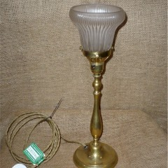 Halophane table lamp