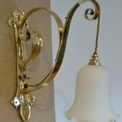 Antique wall lights library room arts and crafts lighting impressive arts and crafts wall light in brass aloadofball