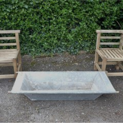 Small galvanized trough perfect for herb garden
