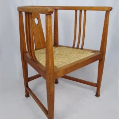 Scottish arts and crafts armchair in oak