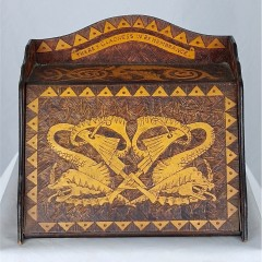 Arts and crafts stationary cabinet , Celtic designs