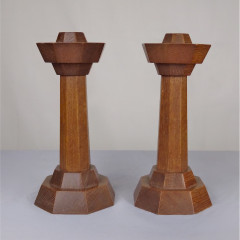 Pair of Arts and crafts candlesticks after Gordon Russell