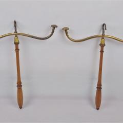 Pair of Edwardian Barristers wig & gown hangers