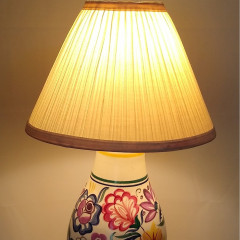 Poole pottery table lamp