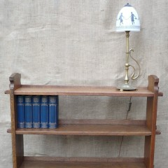 Arts and crafts bookcase of pegged construction