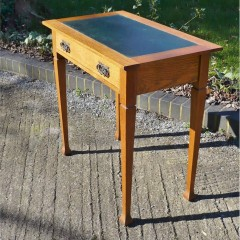 Small arts and crafts desk in golden oak