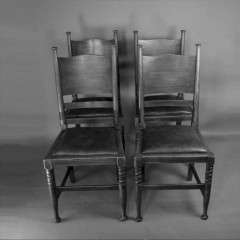 Arts and Crafts set of chairs William Birch