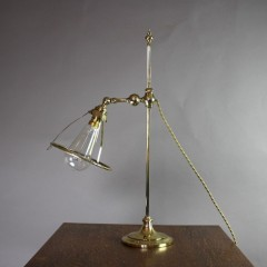 Arts and Crafts brass table lamp by Faraday and Sons