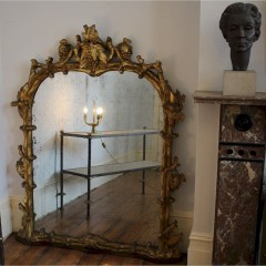 Fabulous English antique carved gilt mirror with vines c1890