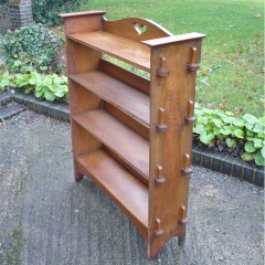 Arts and crafts bookcase , of pegged construction