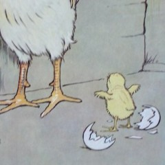 Cecil Aldin oak framed print of chicken. Good morning daddy