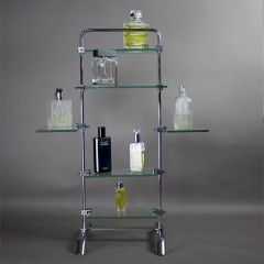 1930's chrome shop display shelving stand