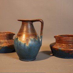 Collection of three Denby Bourne jugs c1930's