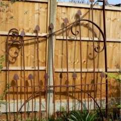 Large art nouveau arts and crafts period gate