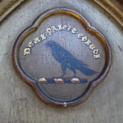 Gothic mirror with Raven