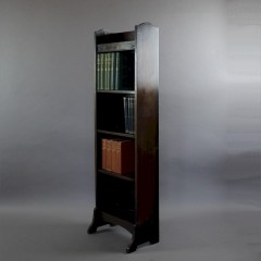 Heals arts and crafts dark oak open bookcase