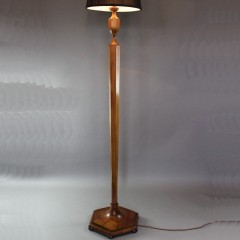 Heals walnut standard / Floor lamp c1920 / 30