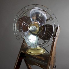 Vintage industrial Limit Veritys electric desk fan