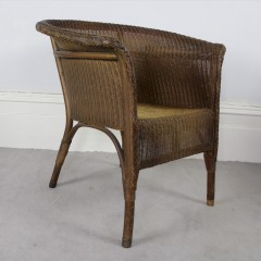1930's Lloyd Loom by Lusty and Sons woven armchair in gold colour