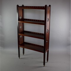 Dainty mahogany aesthetic movement open bookcase