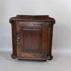 Arts and Crafts mahogany corner wall cabinet