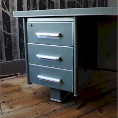 1950's Vintage Industrial metal desk