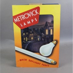 Metrovick lamps , card advert