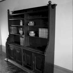 Impressive oak arts and crafts bookcase in the manner of the Guild of Handicraft c1900