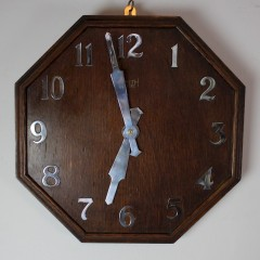 1920's oak office clock by Smiths Sectric
