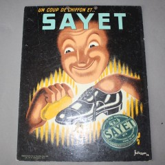 French shoe polish advert Sayet by P Bellenger