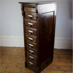 Edwardian oak filing cabinet by Shannon