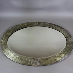 Arts and crafts oval wall mirror