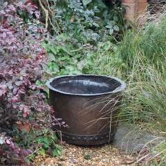 Antique Copper Copper planter log bin