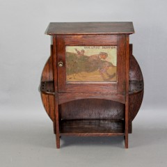 Arts and Crafts oak smokers cabinet by Shapland and Petter of Barnstaple c1900