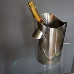 Swiss silver plated ice bucket 1950's