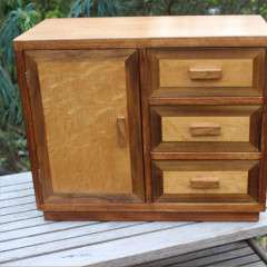 Table top cabinet in the Cotswold School manner
