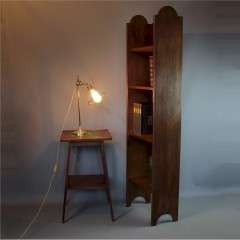 Tall arts and crafts Heals & Son open bookcase.