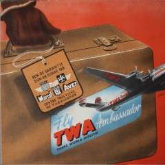 Vintage shop advert for TWA . French 1950's