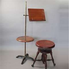 Victorian mahogany music / reading stand