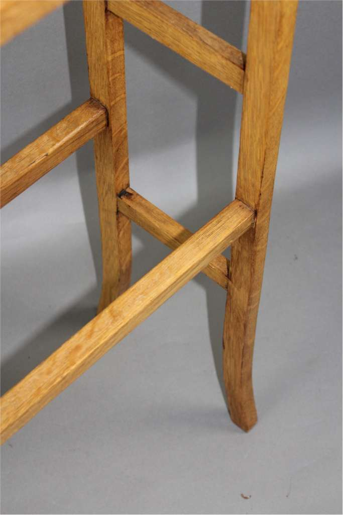 Edwardian  towel rail in golden oak