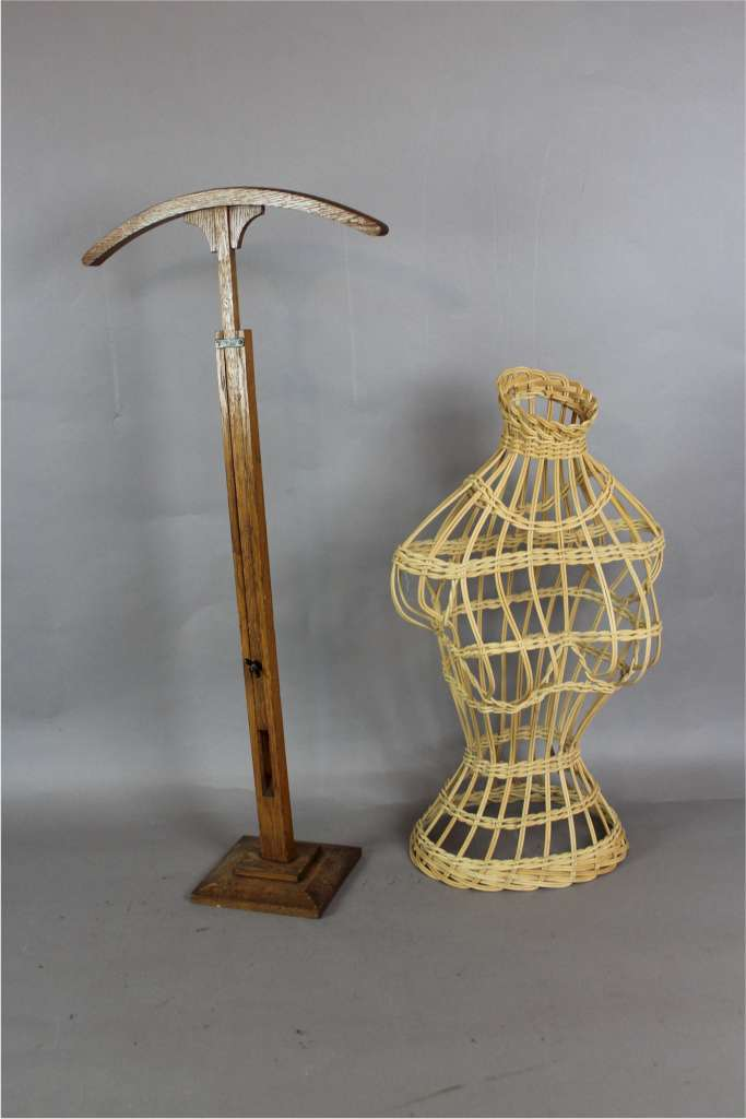 Exhibition Stand Fittings : Vintage edwardian wooden shop shirt display stand
